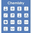 Set of chemistry simple icons vector image vector image
