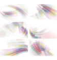 Set of colorful abstractions vector image vector image
