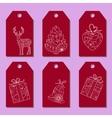 Set of simple christmas tags vector image
