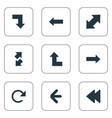Set of simple indicator icons
