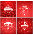 set of typographic backgrounds of the holiday vector image