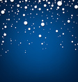 Snow blue abstract background vector image