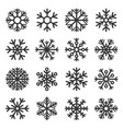 snowflake winter icons set on white background vector image vector image