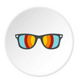 sunglasses icon circle vector image vector image