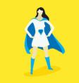 superhero woman vector image