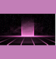 synthwave vaporwave retrowave pink background vector image vector image