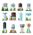water tower tank storage watery resource vector image vector image