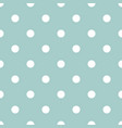 white polka dots on mint green background vector image