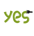 Yes writing drawn with brushstrokes agreement vector image