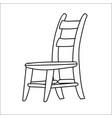 chair cartoon - line drawn vector image