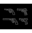 pistols and revolvers vector image