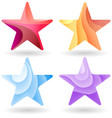 Set of Colorful stars stripped color vector image