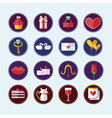 Valentines Day Colorful Icons Love Holiday vector image