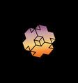 3d necker cube cross icon isometric cube logo vector image