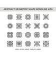 abstract geometric shape monoline 50