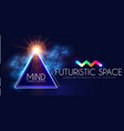 abstract geomrtic banner with neon lights trendy vector image