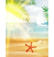 Abstract summer poster with beach vector image vector image