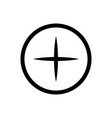 add in circle sign icon outline icon on white vector image vector image