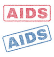 aids textile stamps vector image vector image