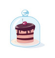 all sweeties dream about cake with cherry vector image vector image