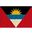 Antigua and Barbuda paper flag vector image vector image