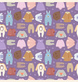 baby clothes seamless pattern background vector image