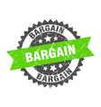 bargain stamp grunge round sign with ribbon vector image vector image