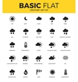Basic set of weather bonus icons vector image vector image