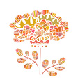 Beautiful flower drawn by hand Perfect floral card vector image vector image