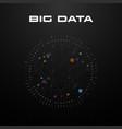 big data visualization circular visualization vector image vector image