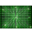 Binary code in abstract background vector image vector image
