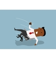 Black businessman fall backwards in an chair vector image vector image