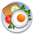 breakfast on the plate vector image vector image
