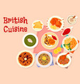 british cuisine traditional dinner menu icon vector image vector image