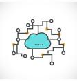 cloud computing icon network concept vector image