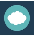cloud emblem on blue background icon image vector image