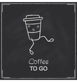 Coffee to go vector image vector image