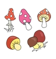 Collection of cartoon different mushrooms vector image