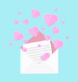 colorful letter love vector image vector image