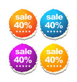 colorful sale labels vector image vector image