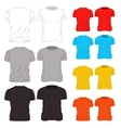 colorful t shirt template icon set vector image