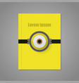 cover of yellow background with an eye vector image vector image