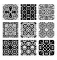 decorative monochrome tile pattern design vector image