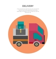 Delivery Lorry Driving Fast Design Flat vector image