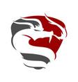 dragon shield logo design mascot template isolated vector image vector image