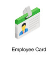 employee card vector image