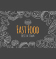 fast food layout vector image vector image