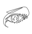 female eye continuous line vector image vector image
