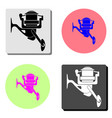 fishing reel flat icon vector image