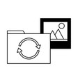 folder file picture data reload vector image vector image
